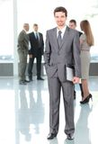 Happy smart business man Royalty Free Stock Image