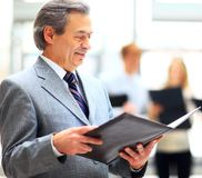 Happy smart business man Stock Images