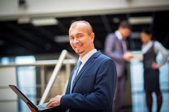 Happy smart business man Royalty Free Stock Photo