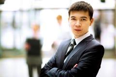 Happy smart business man Stock Image