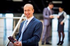 Happy smart business man Royalty Free Stock Photos