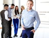 Happy smart businessman Stock Photo