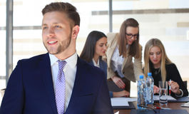 Happy smart businessman Royalty Free Stock Photography