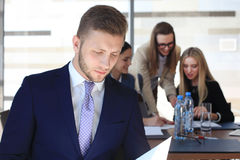 Happy smart businessman Royalty Free Stock Images