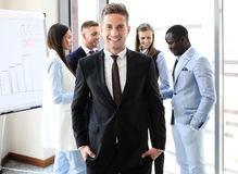 Happy smart businessman Stock Images