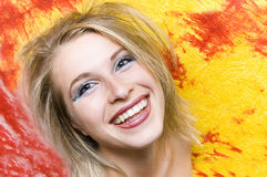 Happy smile. Woman happy smile royalty free stock photos
