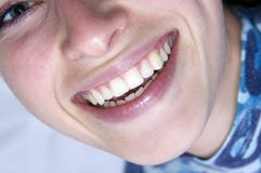 Happy smile. Woman happy smile...happy emotion stock image