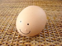 Happy smile egg Royalty Free Stock Photos