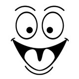 Happy smile face. On a white background Royalty Free Stock Photos