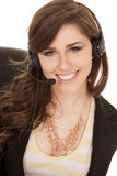 Happy smile headset Stock Photo