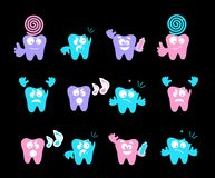 Happy smile, medical teeth. Care concept, vector emotions royalty free illustration