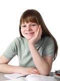 Happy smile of schoolgirl Stock Images