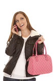Happy smile talk on phone Royalty Free Stock Photo