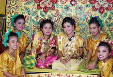 Happy smiles of Bugis girls Royalty Free Stock Images
