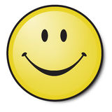 Happy smiley. Happy Yellow smiley face for everyone Stock Photos