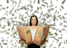 Happy and smiley businesswoman Stock Photography