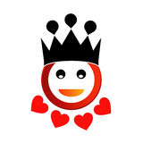 Happy smiley with crown Stock Photos
