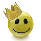 Happy smiley with crown Royalty Free Stock Photos
