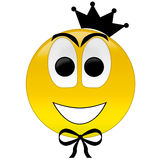 Happy smiley with crown tie Stock Image