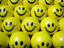 Happy smiley face balls Stock Photography