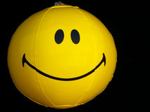 Happy smiley face beach ball. Beach ball with smiley face Royalty Free Stock Photography