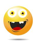 A Happy Smiley Face Button Royalty Free Stock Photography