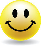A Happy Smiley Face Button Royalty Free Stock Image