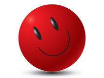 Happy Smiley Face Button Badge Stock Photo