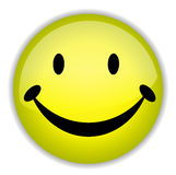 Happy smiley face button badge Stock Images
