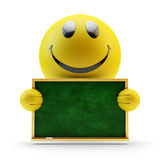 Happy smiley face, emoji character Stock Images