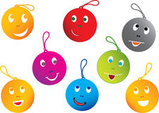 Happy Smiley Faces. Vector set Royalty Free Stock Photo