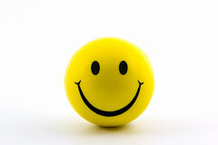 Happy smiley faces yellow ball. Stock Photography