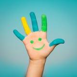 Happy smiley hand Stock Photos