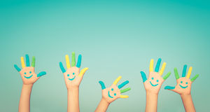 Happy smiley hands Stock Images