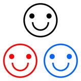 Happy smiley icon royalty free illustration