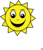 Happy Smiley Sun Royalty Free Stock Photos