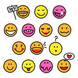 Happy smileys royalty free stock photos