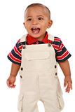 Happy Smiling 1-year old baby boy standing Royalty Free Stock Photo