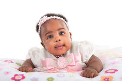 Happy Smiling 3-month Old Baby Girl Portrait Stock Image