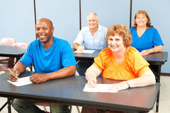 Happy Smiling Adult Education Class stock photography
