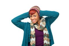 Happy Smiling African American Woman Royalty Free Stock Images