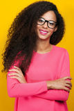 Happy smiling african american woman. Royalty Free Stock Photos