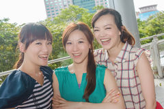 Happy smiling Asian woman Stock Photography