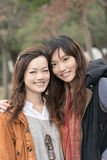 Happy smiling Asian women in the park Stock Photo