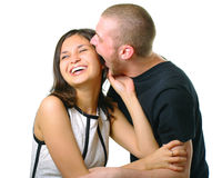 Happy smiling attractive couple Stock Photo