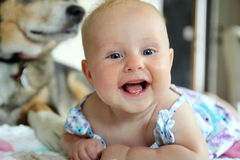 Happy Smiling Baby Girl Stock Photography