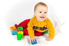 Happy smiling baby royalty free stock image