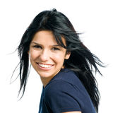 Happy smiling beautiful lady Royalty Free Stock Images