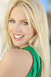 Happy Smiling Beautiful Young Blond Woman stock images