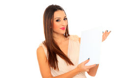 Happy smiling beautiful young business woman Royalty Free Stock Photo